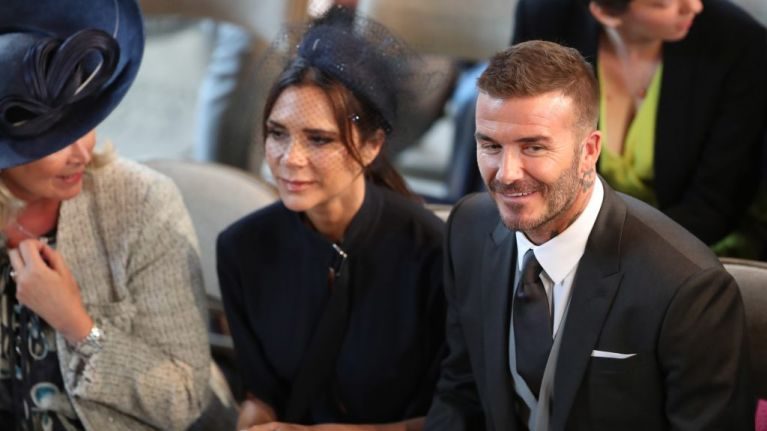 David Beckham broke all protocols in the church and everybody stared at his gesture