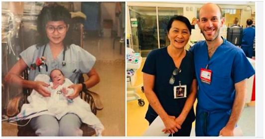 NICU nurse discovers her new colleague is the premature baby she cared for 28 years ago