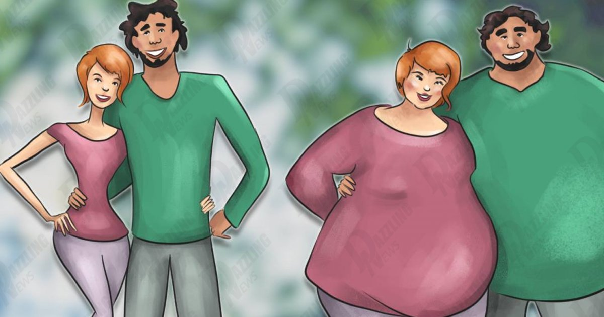 People in happy relationships tend to get fat, recent